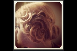 Side updo with added detail