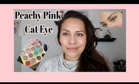 SUPER EASY • Peachy Pink Cat Eye • Sweet Talk Palette + Glossier Pro Tip
