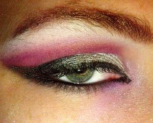 Silver Black and Purple