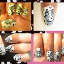 teddy nail art <3