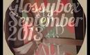 GLOSSYBOX:SEPT 2013