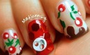 Juicy Cherry on Chocolate Tips Nail Art - Kirakiranail Contest Entry
