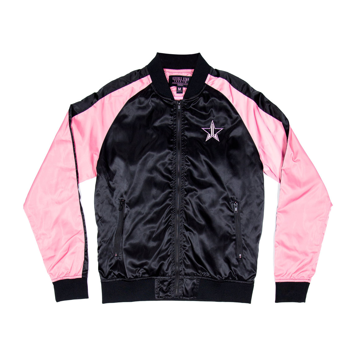Jeffree Star Cosmetics Baby Pink Bomber Jacket Small alternative view 1 - product swatch.