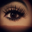 Natural winged eyeliner