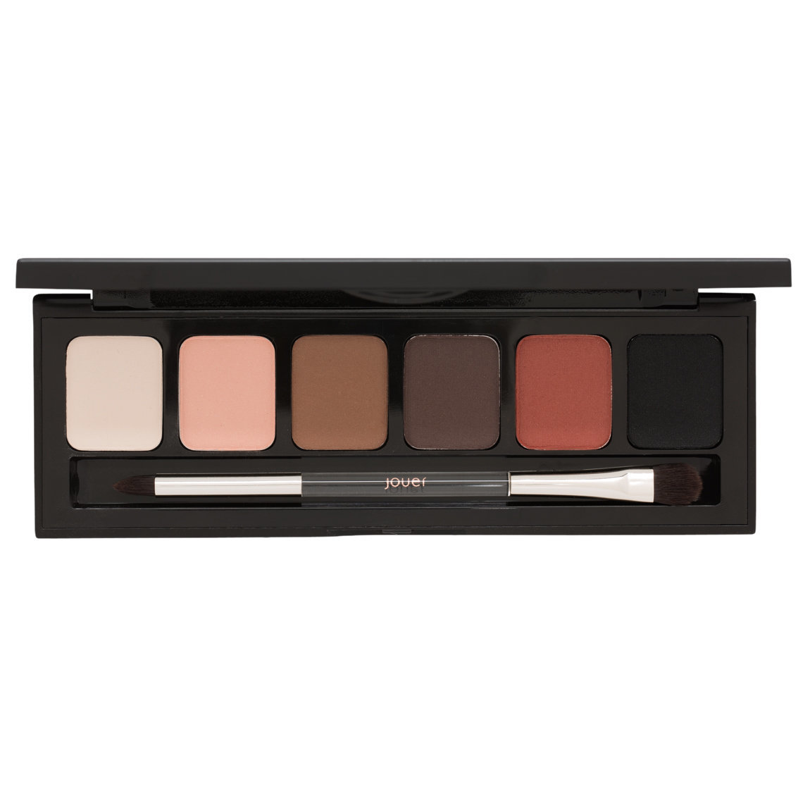 Jouer Cosmetics Essential Jet-Set Matte Eyeshadow Palette product smear.