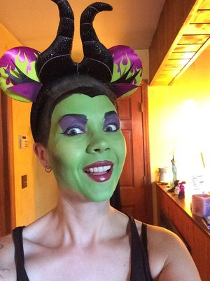 Traditional Maleficent makeup! So fun.