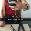 Straightening my hair on SnapChat