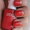 Vermelho E Dourado Combinação Perfeita