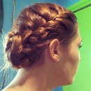 French braid and bun