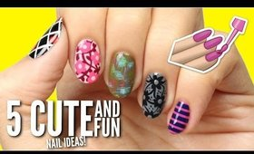 5 Cute & Easy Patterns For Your Nails | SpacePOP!