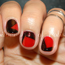 Red Patchwork Nails