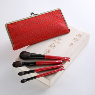 Cherry Blossom 4-Piece Brush Set