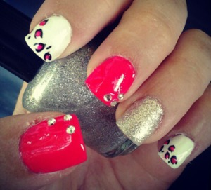 Hot pink, glitter, and leopard