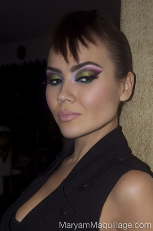 Details and pix on my blog: http://www.maryammaquillage.com/2013/03/the-new-wave-spin-on-arabic-makeup.html