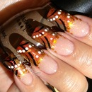 Fall Abstract Nail Art