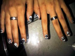 Tribal nails. Was so fun to do :D