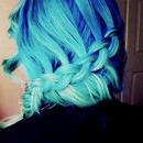 blue braid/bun