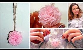 Cute Valentine's day idea: DIY pom-pom necklace!!