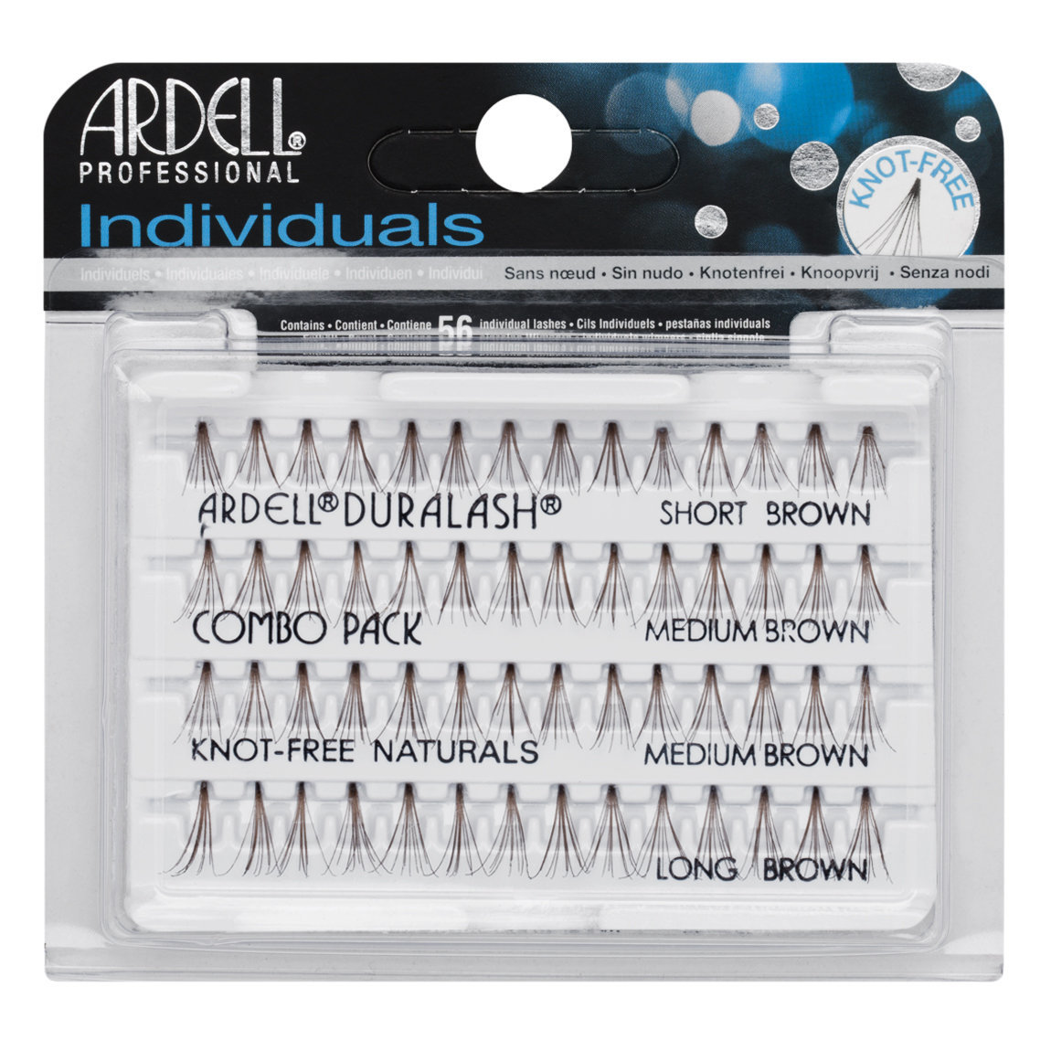 Ardell Individuals Knot-Free Natural Lashes Combo Brown