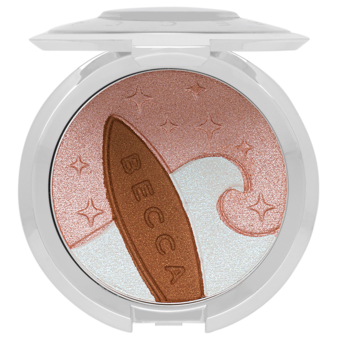 BECCA Cosmetics Shimmering Skin Perfector Pressed Highlighter Australia Ocean Glow alternative view 1 - product swatch.