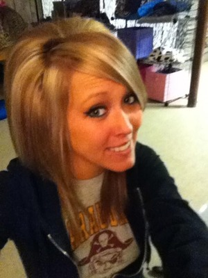 Hair color, extensions, haircut by Christy Farabaugh