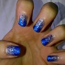 Glitter Ombre Effect Nails