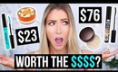 3 DRUGSTORE DUPES TESTED vs. HIGH-END || Are They Worth The Price?!