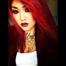 Red hair/ dark lip