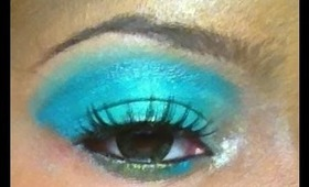 Sea Green eye look: Makeup Tutorial