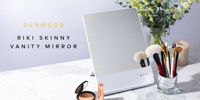 The mirror that does it all. Shop Glamcor's Riki Skinny Vanity Mirror!