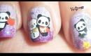 Cute Panda Nails! - BornPretty Store Water Decal Review + Tutorial