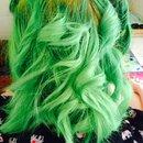 Curled Green Hair