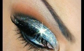 Silver Glitter Holiday Makeup