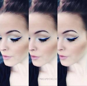 Cobalt blue eyeliner Instagram: makeupbychelsie