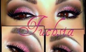 Maquillaje Fuchsia (ojos)  / Fuchsia Eyemakeup