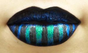 Aqua Goth Stripes!