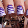 Gradient Nails with Stripes!