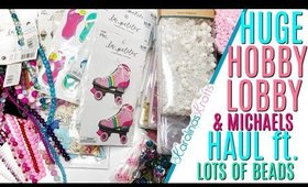 HUGE Michaels and Hobby Lobby Beads Haul to Make Charms!
