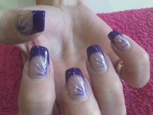 nail art with purple...