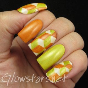 Read the blog post at http://glowstars.net/lacquer-obsession/2015/05/the-digit-al-dozen-does-geometric-bad-70s-holo-wallpaper/