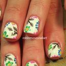 White Floral Nail Art