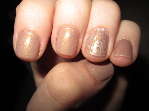 China Glaze's Fast Track from the Hunger Games Collection.  China Glaze Luxe and Lush accent nail, also from Hunger Games Collection.