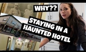 STAYING IN A HAUNTED HOTEL FOR OUR ANNIVERSARY