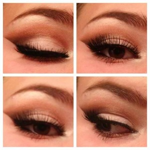 Glamorous Neutral Eye Makeup.