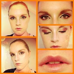 Phoenix inspired makeup look