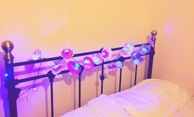 Home Decor DIY: Flower Lights/ Girls Bedroom Decor ideas