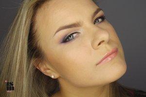 very elegant violet make up