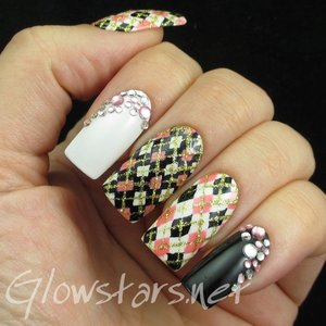 Read the blog post at http://glowstars.net/lacquer-obsession/2015/05/featuring-a-magazine-from-born-pretty-store-black-white-series-elegant-nail-art-show/