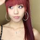 Long red hair with bangs!