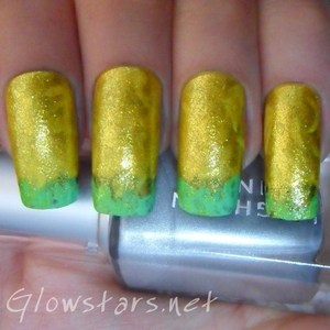 A mani depicting rapeseed fields. To find out more visit http://glowstars.net/lacquer-obsession/2012/09/fields